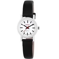 Bahnhof Damen Analog Quarz Uhr mit Leder Armband 100322100027