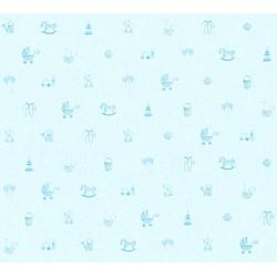 living walls Vliestapete Little Stars, glatt, Kinderzimmertapete für Babys, PVC-frei blau