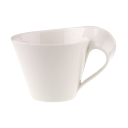 Villeroy & Boch Cafe au lait Obertasse New Wave Cafe in weiß, 0,4 l