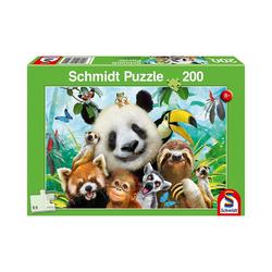 Schmidt Spiele Puzzle Puzzle 200 Teile Einfach tierisch!, Puzzleteile