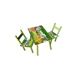HTI-Line Kindersitzgruppe Kindertischgruppe Dinos, (Tisch und 2 Stühle, 3-tlg), Kindertisch