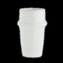 Madam Stoltz Steingut Tasse Weiß