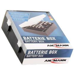 Ansmann Akku und Batterien Aufbewahrungs-Box für bis zu 24x AA, 16x AAA, 4x 9V