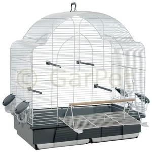 GarPet Vogelkäfig Wellensittich Großsittich Papagei Käfig vorne Freisitz offen Freiflug