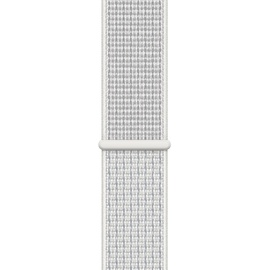 Apple Watch Nike+ Series 4 (GPS + Cellular) 44mm Aluminiumgehäuse silber mit Nike Loop Sportarmband summit white