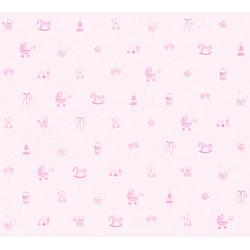 living walls Vliestapete Little Stars, glatt, Kinderzimmertapete für Babys, PVC-frei rosa