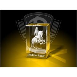 GLASFOTO.COM Dekofigur Dynamo Dresden - Quader - Fanartikel -Kristallglas mit Innengravur