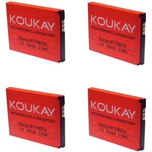 Koukay 4X Akku für AVM Fritz!Fon MT-F M2 C4 C5 312BAT016 312BAT006 FritzFon DECT MTF mit 750mAh