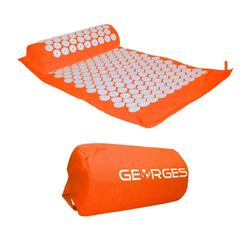 GEORGES Akupressurmatte Akupressurmatte mit Kissen 75x44cm Orange