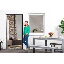 empasa Insektenschutz-Tür, Klemm-Magnet-Lamellenvorhang grau
