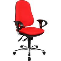 Bürostuhl Support SY, ergonomischer Schreibtischstuhl, inkl. höhenverstellbare Armlehnen, Bezugsstoff, rot