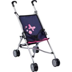 Bayer Puppenwagen Puppenwagen Buggy blau/pink