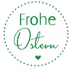 Ostern Holzstempel - Herz Frohe Ostern (Ø 40 mm)
