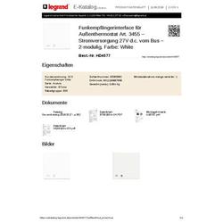 Legrand Hd4577 Scs Funkempfaenger White