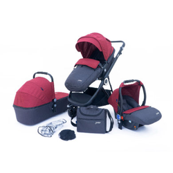 petex 3-in-1 Kombi-Kinderwagenset Multi Traveller rot