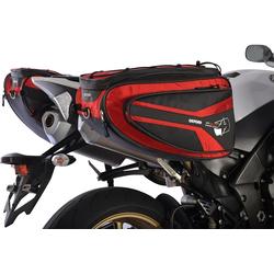 Oxford P50R Motorrad Satteltasche, rot, Größe 41-50l