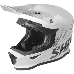 Shot Furious Raw Motocross Helmet, black-white, Größe M