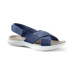 Leichte Komfort-Sandalen aus Canvas - 38.5 - Blau
