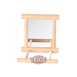 Trixie Spiegel mit Holzrahmen, 9 × 9 cm
