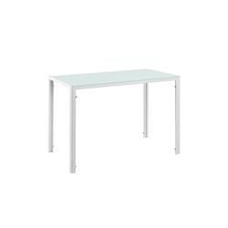 en.casa Esstisch, Enschede mit Glas Tischplatte weiß weiß