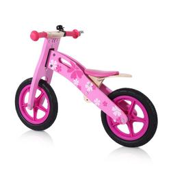 Baby Vivo 12 Zoll Kinderlaufrad / Laufrad aus Holz mit Klingel - Pinky