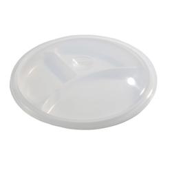 Gies giesline Menüteller, weiß/transparent, Lunchteller mit Deckel für die Mikrowelle, Maße: Ø 27,5 x 6 cm