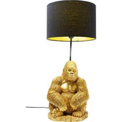 KARE Ausgefallene Tischleuchte Monkey Gorilla Gold