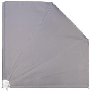 Ventanara Balkonfächer Grau Sichtschutz Windschutz Sonnensegel 140 x 140 cm