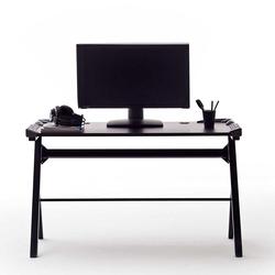 PC Schreibtisch in Schwarz LED Beleuchtung