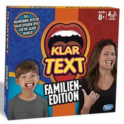 Hasbro KLARTEXT Familien Edition Brettspiel