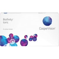 CooperVision Biofinity Toric 6 St. / 8.70 BC / 14.00 DIA / -1.75 DPT / -2.25 CYL / 150° AX