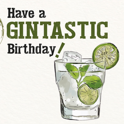 Gin Geburtstagskarte No1