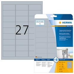 675 HERMA Typenschildetiketten 4222 silber