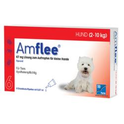 AMFLEE 67 mg Spot-on Lsg.f.kleine Hunde 2-10kg 6 St