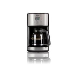 Domo Filterkaffeemaschine, Edelstahl mit Timer Zeitschaltuhr, Glaskanne 14 Tassen und Permanentfilter für Filter-Kaffee Pulver