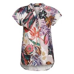 Bluse mit V-Ausschnitt Doris Streich koralle