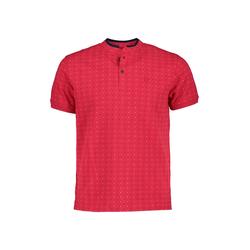 Lavard Rotes Poloshirt mit Punkten 73865