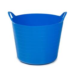 ONDIS24 Wäschekorb Tragekorb Flexi Tub 26L, Spielzeug Eimer Kinderzimmer, Wäschekorb Flexibler Kunststoff, Garten Kübel blau