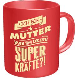 Rahmenlos Kaffeebecher mit witzigem Spruch für die Mama rot