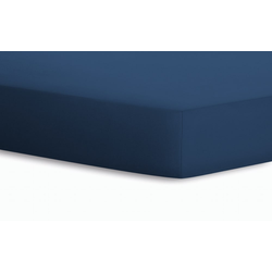 Schlafgut Spannbetttuch Jersey in blau, 100 x 200 cm