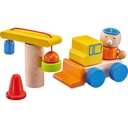 Selecta Spielbausteine Baustelle, Klett-Stapelspielzeug, 8 Teile