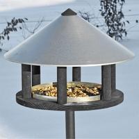 VOSS garden Odensee - Vogelhaus im dänischen Design, 155cm hoch, 40cm Durchmesser, inkl. Ständer