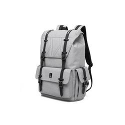 PEAK TIME Tagesrucksack PT-301, stylischer urbaner Rucksack mit Zierschnallen grau