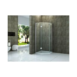 Fünfeck-Duschkabine NOOK 100 x 100 x 195 cm ohne Duschtasse