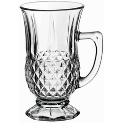 Pasabahce Gläser-Set 6er Set Pasabahce Istanbul Teeglas, Gläser Teegläser Trinkgläser mit Henkel Cay Bardagi Trinkgläser
