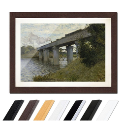 Bilderdepot24 Wandbild, Claude Monet - Die Eisenbahnbrücke von Argenteuil bunt 30 cm x 20 cm