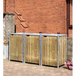 HIDE Mülltonnenbox für 3x 240 l,natur,