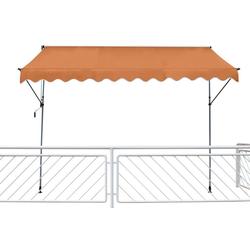 Leco Klemmmarkise Leco Fallarmmarkise 200x120 cm Balkon Markise Spannmarkise Sonnenschutz orange