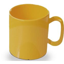 WACA Becher (4-tlg), 325 ml, Kunststoff gelb