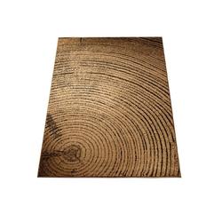 Teppich Baumscheiben Optik braun ca. 120/170 cm